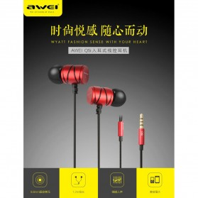 Awei Earphone Ultimate Smart with Mic - Q5i - Black - 2