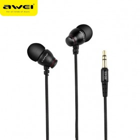 Awei Earphone Noise-Isolating - ES-Q6 - Black