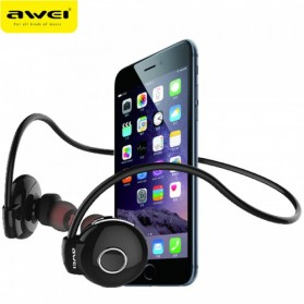 AWEI Bluetooth Earphone Headset - A845BL - Black - 4