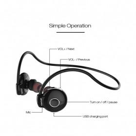 AWEI Bluetooth Earphone Headset - A845BL - Black - 5