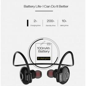 AWEI Bluetooth Earphone Headset - A845BL - Black - 6