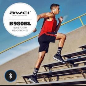 AWEI Bluetooth Earphone Headset - B980BL - Blue - 3