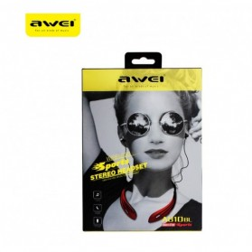 AWEI Bluetooth Earphone Headset - A810BL - Red - 7