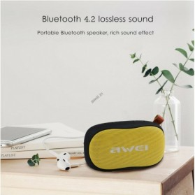 Awei Portable Bluetooth Speaker 3D Stereo - Y900 - Black/Yellow - 2