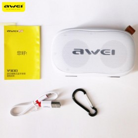 Awei Portable Bluetooth Speaker 3D Stereo - Y900 - Black/Yellow - 4