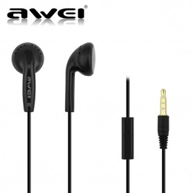 Awei Earphone Earbud dengan Microphone- ES-11 - Black