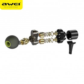 AWEI Sport Bluetooth Earphone 4 Driver - X660BL - Black - 2