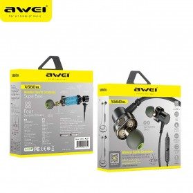 AWEI Sport Bluetooth Earphone 4 Driver - X660BL - Black - 6