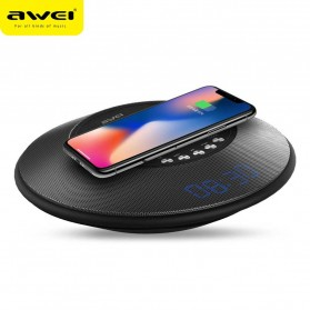 Audio Speaker Komputer PC / Laptop - Awei 2 in 1 Speaker Bluetooth Qi Wireless Charger Dock - Y290 - Black