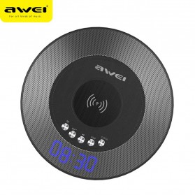 Awei 2 in 1 Speaker Bluetooth Qi Wireless Charger Dock - Y290 - Black - 2