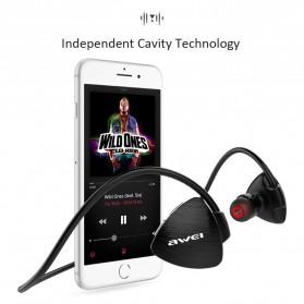 AWEI Bluetooth Earphone Headset - A847BL - Black - 8