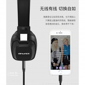 AWEI Bluetooth Wireless Headset Headphone v4.2 with Mic - A760BL - Black - 2