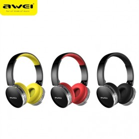 AWEI Bluetooth Wireless Headphone Foldable - A500BL - Black - 3