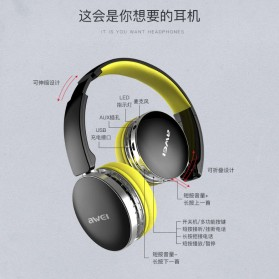 AWEI Bluetooth Wireless Headphone Foldable - A500BL - Black - 6