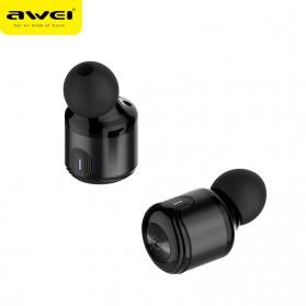 AWEI Dual TWS Airpods Earphone Bluetooth dengan Charging Case - T8 - Black - 3