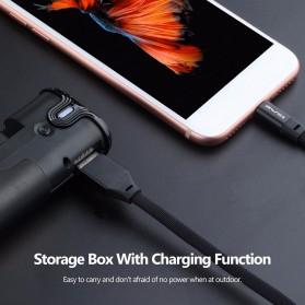 AWEI Dual TWS Airpods Earphone Bluetooth dengan Charging Case - T8 - Black - 7