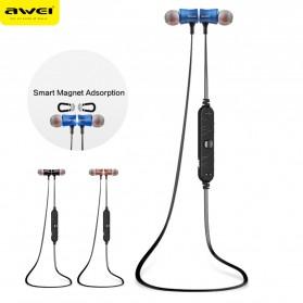 Awei Earphone Bluetooth Sport Magnetic dengan Microphone - A921BL - Black - 4