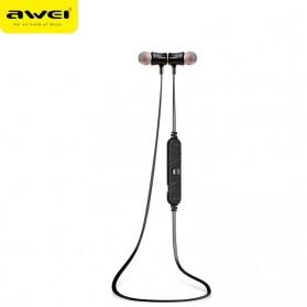 Awei Earphone Bluetooth Sport Magnetic dengan Microphone - A921BL - Black - 7