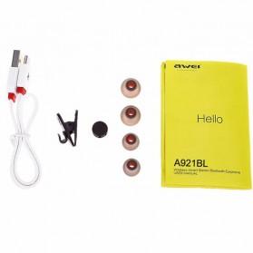Awei Earphone Bluetooth Sport Magnetic dengan Microphone - A921BL - Black - 10