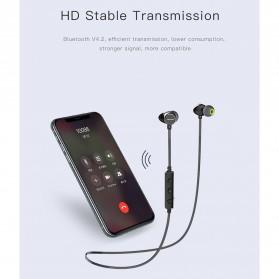 Awei Earphone Bluetooth Sport Neckband with Mic - WT10 - Black - 8