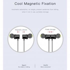 Awei Earphone Bluetooth Sport Neckband with Mic - WT10 - Black - 9