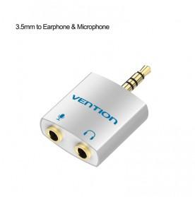 Vention Splitter Audio AUX 3.5mm 2 Port Earphone & Microphone - BDBW0 - White
