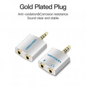 Vention Splitter Audio AUX 3.5mm 2 Port Earphone & Microphone - BDBW0 - White - 4