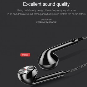 USAMS Classic Earphone Earbud dengan Mic - EP-20 - Black - 4