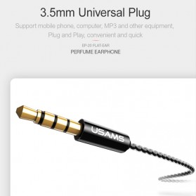 USAMS Classic Earphone Earbud dengan Mic - EP-20 - Black - 6