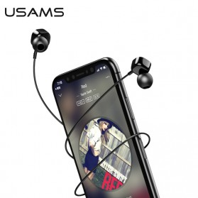 USAMS Square Earphone with Mic- EP-21 - Black - 1