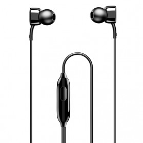 USAMS Square Earphone with Mic- EP-21 - Black - 2