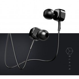 USAMS Square Earphone with Mic- EP-21 - Black - 8