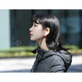 USAMS Square Earphone with Mic- EP-21 - Black - 10