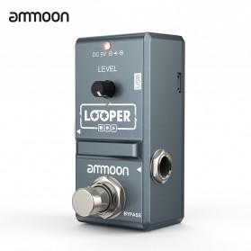 Ammoon Looper Nano Pedal Efek Gitar Overdubs 10 Minute Recording - AP-09 - Black