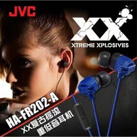 JVC XX Xtreme Xplosives Earphone dengan Mic - HA-FR202-A - Blue - 4