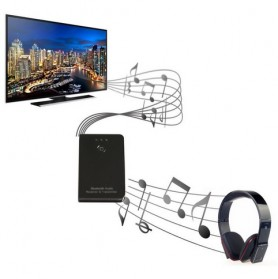 Universal Bluetooth Stereo and Audio Transmitter - Black - 6