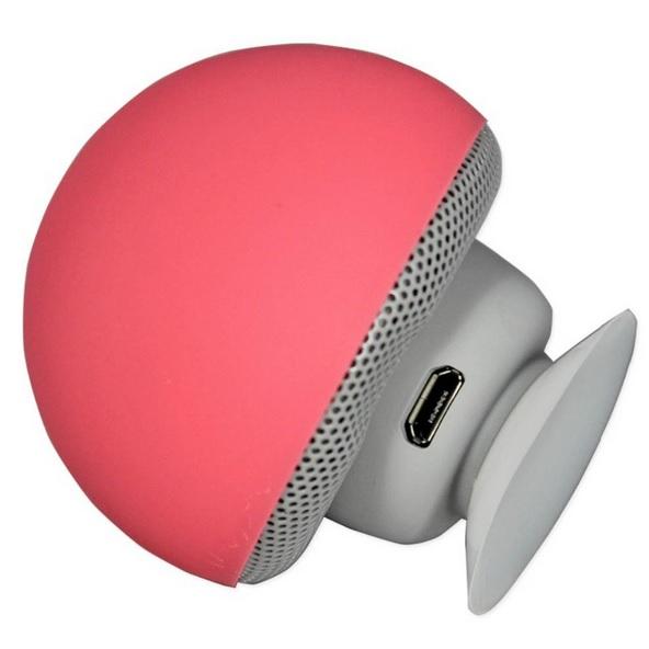 portable small mushroom style mini bluetooth speaker pink. Black Bedroom Furniture Sets. Home Design Ideas