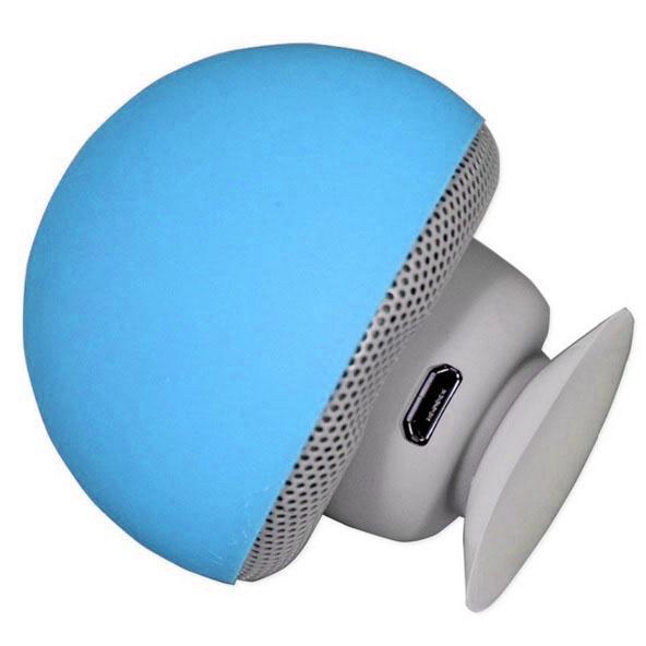 portable small mushroom style mini bluetooth speaker blue. Black Bedroom Furniture Sets. Home Design Ideas