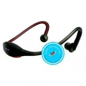 Headset Olahraga dengan FM Radio & Slot MicroSD (OEM) - Black/Red