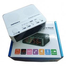 Taffware Jam Alarm Dengan Speaker Bluetooth - BC-01 - White