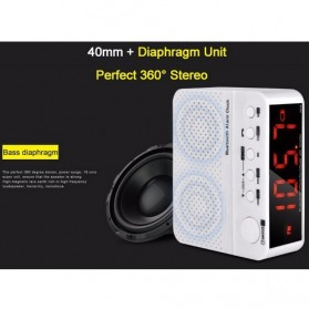 Taffware Jam Alarm Dengan Speaker Bluetooth - BC-01 - White - 9