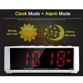 Taffware Jam Alarm Dengan Speaker Bluetooth - BC-01 - White - 11
