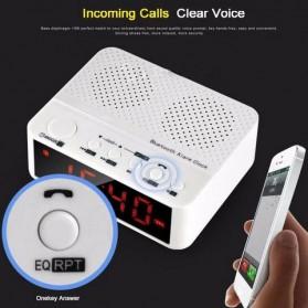 Taffware Jam Alarm Dengan Speaker Bluetooth - BC-01 - White - 12