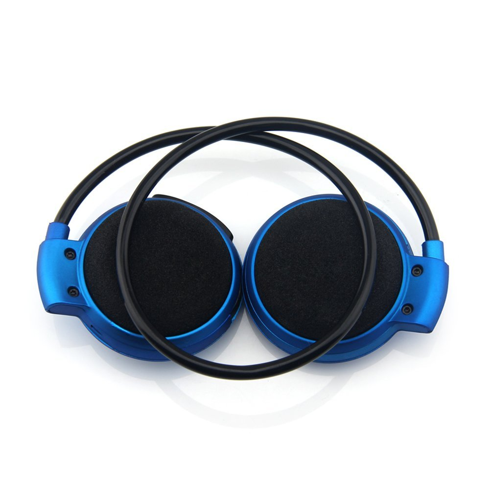 universal wireless stereo bluetooth sport headset with microphone mini503 blue. Black Bedroom Furniture Sets. Home Design Ideas