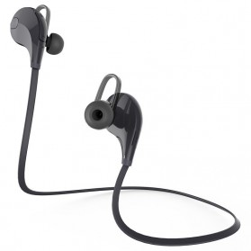 Earphone Bluetooth Sport dengan Mic - QY7 (OEM) - Black