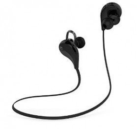 Earphone Bluetooth Sport dengan Mic - QY7 (OEM) - Black - 2