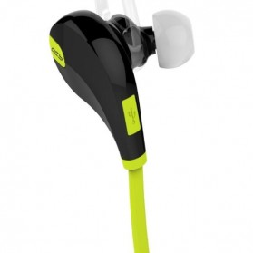 Earphone Bluetooth Sport dengan Mic - QY7 (Replika 1:1) - Blue - 3