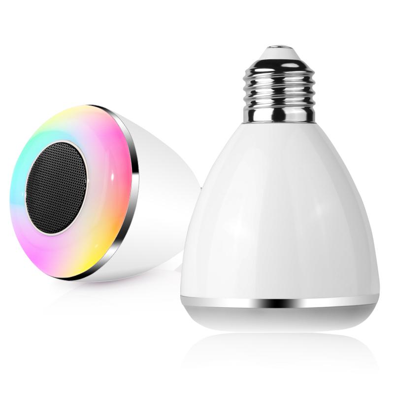 Led multicolor light bulb bluetooth speaker dl pc002 for Best bluetooth light bulb speaker