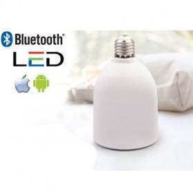 Smart White Color Bulb Bluetooth Speaker - White
