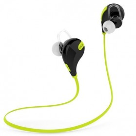 Headphone & Headset Bluetooth - Bluetooth Earphone Olahraga dengan Mic - QY7 (ORIGINAL) - Green